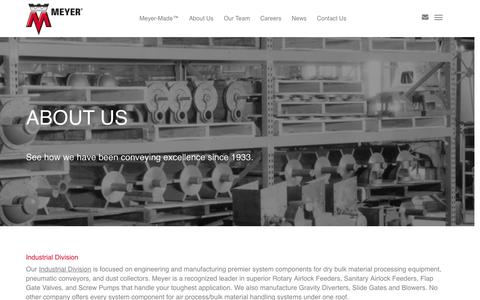 Screenshot of About Page wmwmeyer.com - About Us | Meyer Corporate - captured Feb. 26, 2016
