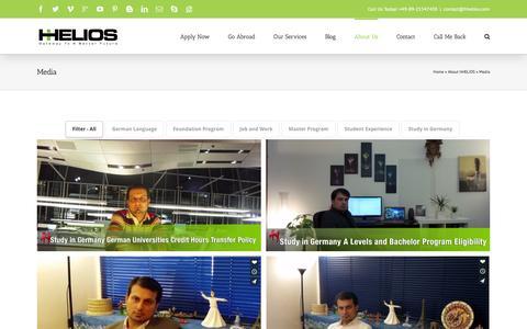Screenshot of Press Page hhelios.com - Media - hHELIOS - captured Dec. 6, 2015