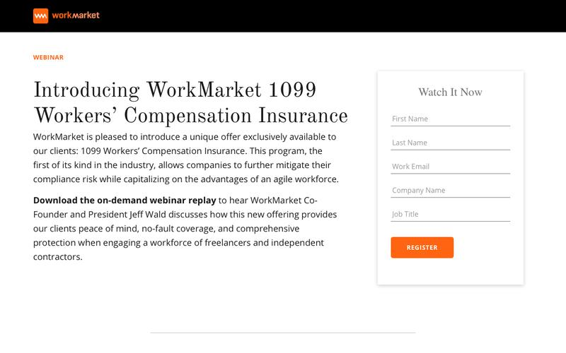 Introducing WorkMarket 1099 Workers' Compensation Insurance