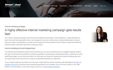 Internet Marketing Campaign, Internet Marketing - StreamSend