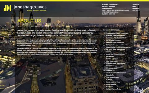 Screenshot of About Page joneshargreaves.co.uk - About us - captured Sept. 30, 2014