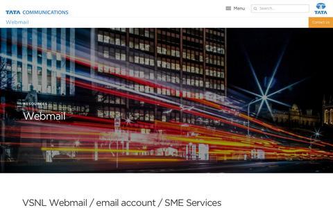 Screenshot of Case Studies Page tatacommunications.com - Webmail | VSNL Email Account | Resources | Tata Communications - captured Dec. 18, 2019