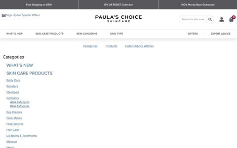 Screenshot of Site Map Page paulaschoice.com - Sites-paulaschoice_us-Site | Paula's Choice - captured Jan. 9, 2020