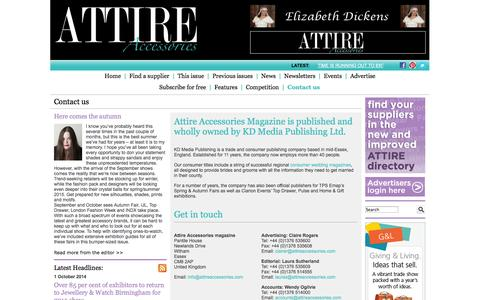 Screenshot of Privacy Page Contact Page attireaccessories.co.uk - Attire Accessories magazine - Contact us - captured Oct. 4, 2014