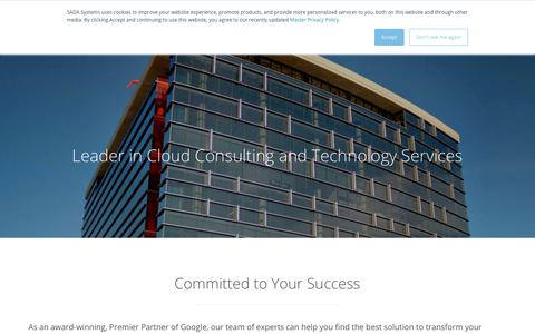 Screenshot of Services Page sadasystems.com - IT Services | Cloud Consulting | Google Cloud Premier Partner - captured July 4, 2019