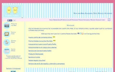Screenshot of Press Page puertopollito.com - Ropa para bebes, blanqueria y accesorios en las tiendas de Puerto Pollito y su pagina web - captured Dec. 13, 2015