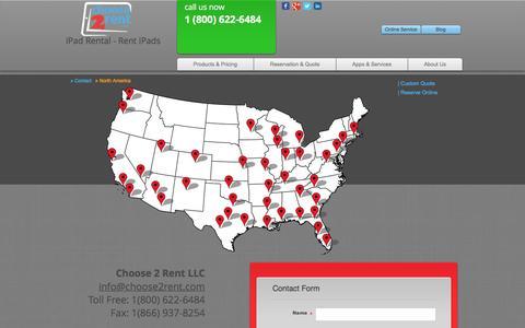 Screenshot of Contact Page choose2rent.com - Contact Choose 2 Rent - captured May 17, 2017