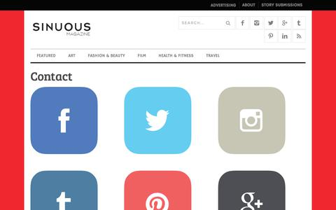 Screenshot of Contact Page sinuousmag.com - Contact | Sinuous Magazine - captured July 6, 2017