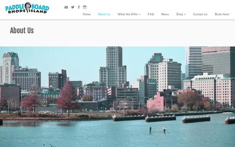 Screenshot of About Page paddleboardri.com - About Us | Paddle Board RI - captured Oct. 18, 2016