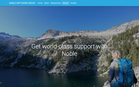 Screenshot of Support Page noblesg.com - Noble Software Group - captured Oct. 18, 2018