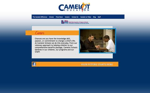 Screenshot of Jobs Page cameloteducation.org - Camelot Education - captured Sept. 27, 2014