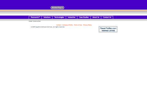 Screenshot of Terms Page sapphiresoftware.com - Sapphire Software Services - captured Nov. 19, 2016