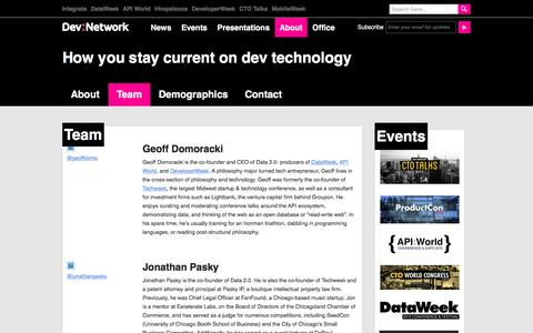 Screenshot of Team Page devnetwork.com - Team - DevNetwork - captured Jan. 7, 2016