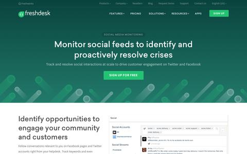 Social media support on Freshdesk