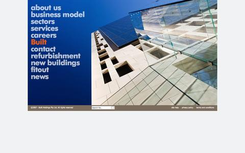 Screenshot of Home Page built.com.au - Home : Built leads in Australia for construction, refurbishment and fitout in all major industry sectors - captured Sept. 30, 2014