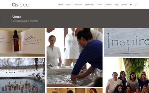 Screenshot of About Page astecc.com - About | ASTECC - captured Oct. 29, 2014