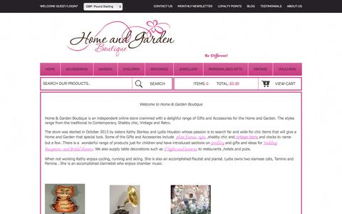 Screenshot of About Page homeandgardenboutique.co.uk - About Us|HomeandGardenBoutique - captured Sept. 30, 2014