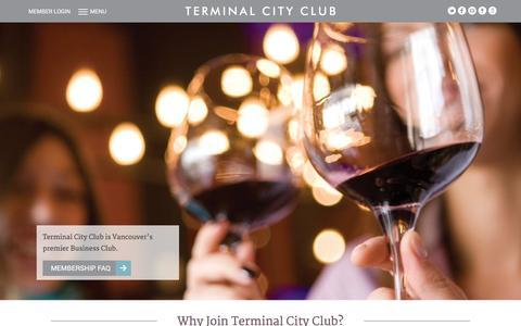 Screenshot of Signup Page tcclub.com - Membership - Terminal City Club - captured Feb. 16, 2016