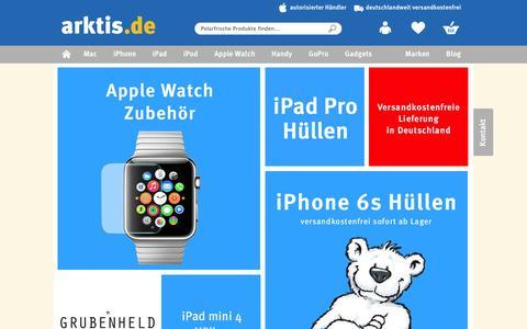 Screenshot of Home Page arktis.de - arktis.de | Autorisierter Apple Händler | iPhone, iPad & Mac - captured Jan. 14, 2016