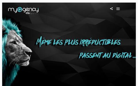 Screenshot of Home Page myagency.lu - Myagency - Agence Conseil en Marketing Digital - captured Aug. 12, 2015