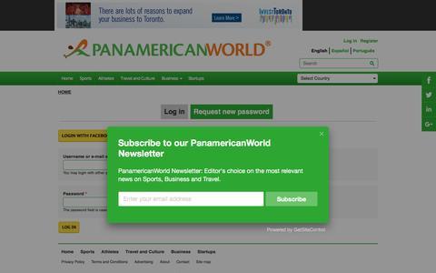 Screenshot of Login Page panamericanworld.com - User account | PanamericanWorld - captured Oct. 20, 2016