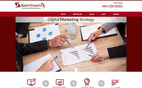 Screenshot of Home Page searchworxx.com - SearchworxX - Digital Marketing Agency - Lead and Sales Generation Strategy, Audience Targeting, Conversion Optimization, Digital Media Planning - captured Sept. 30, 2014