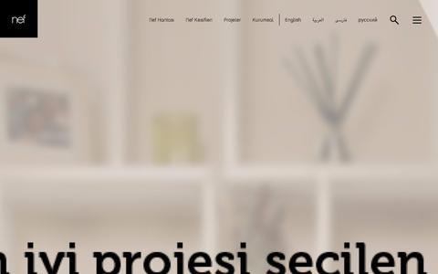 Screenshot of Home Page nef.com.tr - Nef - captured Jan. 18, 2016