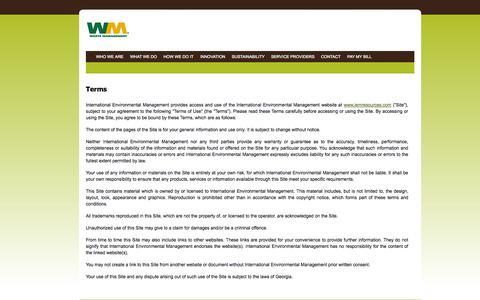 Screenshot of Terms Page wm.com - Terms - captured Sept. 18, 2014