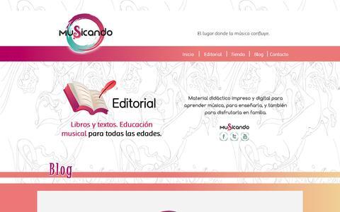 Screenshot of Blog musicando.com.ar - MUSICANDO Editorial - captured Aug. 14, 2016