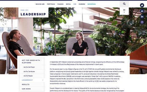 Screenshot of Team Page klepierre.com - Leadership | Klépierre - captured Sept. 20, 2018