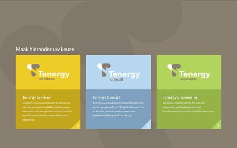 Screenshot of Home Page tenergy.nl - Tenergy | - captured Sept. 4, 2015