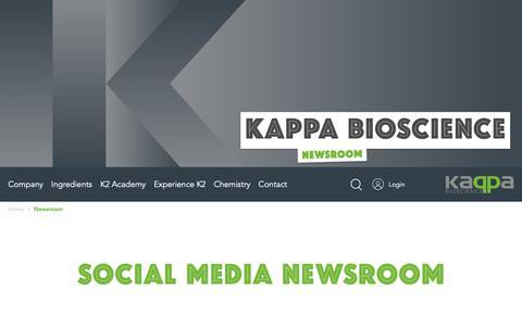 Screenshot of Press Page kappabio.com - Newsroom // Kappa Bioscience - captured Oct. 14, 2018