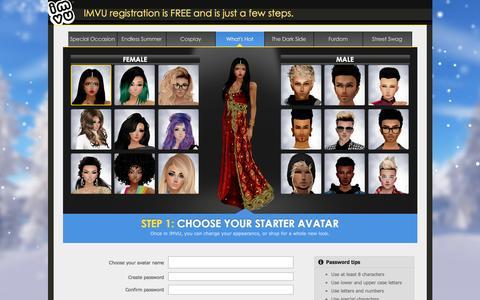 Screenshot of Signup Page imvu.com - Signup : IMVU - captured Nov. 30, 2015