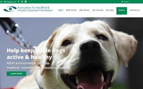 Screenshot of Home Page abvisc.org - Association for the Blind and Visually Imparied Home - Association for the Blind and Visually Impaired - Charleston - captured Nov. 21, 2016