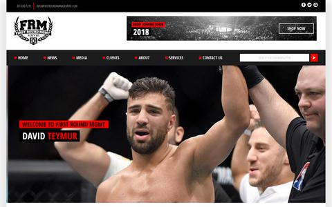 Screenshot of Home Page firstroundmanagement.com - Welcome to First Round Management | MMA and NFL Management | Miami FL - captured Aug. 13, 2018