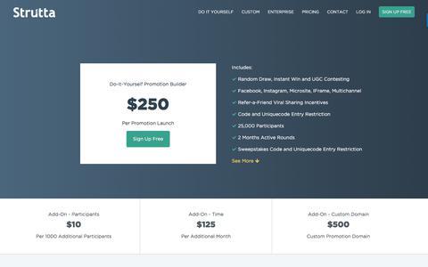 Screenshot of Pricing Page strutta.com - Strutta Pricing - captured July 5, 2017