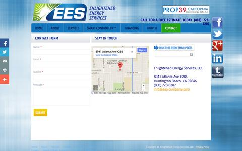 Screenshot of Privacy Page ees-company.com - Contact - captured Nov. 2, 2014