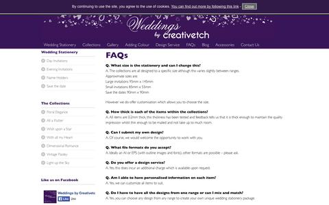 Screenshot of FAQ Page weddingsbycreativetch.co.uk - FAQs | Weddings by Creative Etch - captured Oct. 10, 2014