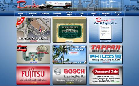 Screenshot of Home Page benoist.com - Benoist Brothers Supply Co | benoist.com - captured Oct. 5, 2014