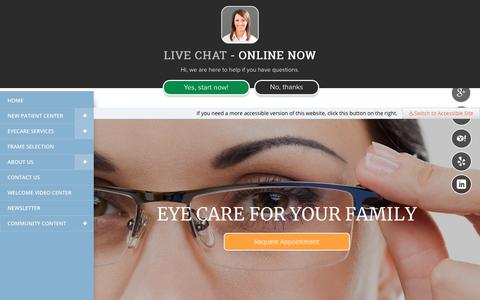 Screenshot of Home Page parmereyecare.com - Parmer Eye Care - Optometry In Austin, TX USA :: Home - captured July 15, 2018