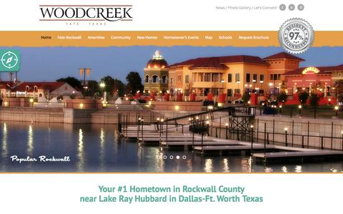 Screenshot of Home Page woodcreekfate.com - New homes | Near Rockwall and Lake Ray Hubbard Texas | Woodcreek - captured Aug. 16, 2015