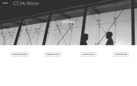 Screenshot of Press Page cdabible.org - Media - Coeur d' Alene Bible Church - captured Sept. 28, 2018