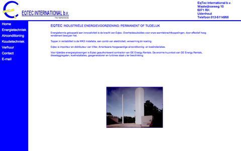 Screenshot of Home Page eqtec.nl - Eqtec International bv - captured Oct. 10, 2014