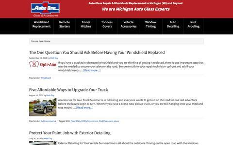 Screenshot of Blog autooneinc.com - Auto Blog   Auto One Glass & Accessories - captured Oct. 4, 2018