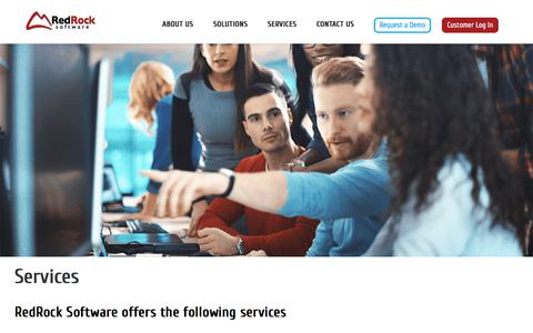 Screenshot of Services Page redrocksoftware.com - Services | RedRock Software - captured Sept. 20, 2018