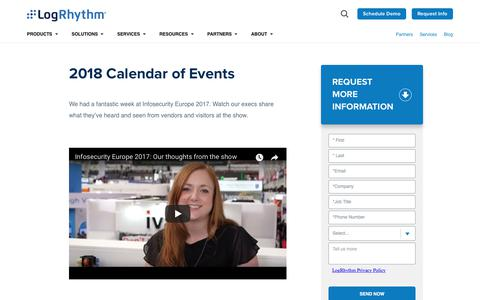 Events and Tradeshows | LogRhythm