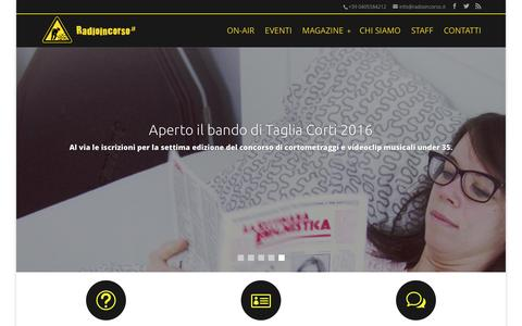 Screenshot of Home Page radioincorso.it - Radioincorso.it | webradio degli studenti dell'Università deli Studi di Trieste - captured Jan. 12, 2016