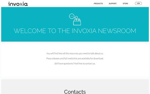 Screenshot of Press Page invoxia.com - Press - invoxia - captured Nov. 26, 2016