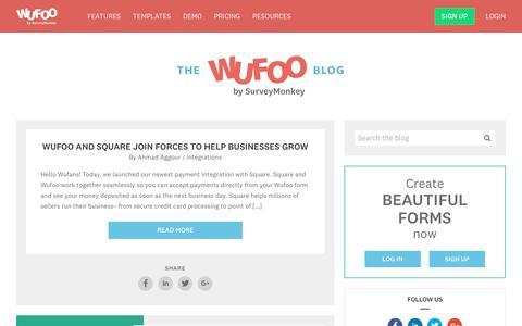 Blog Posts Archive - Wufoo : Wufoo