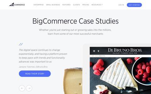 Screenshot of Case Studies Page bigcommerce.com - Ecommerce Case Studies | Bigcommerce - captured March 29, 2016